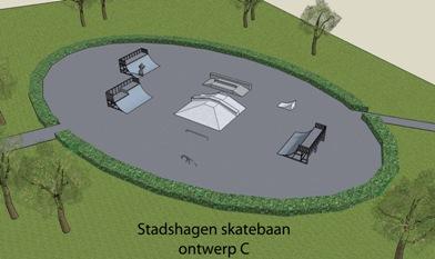 ontwerpc skatebaan
