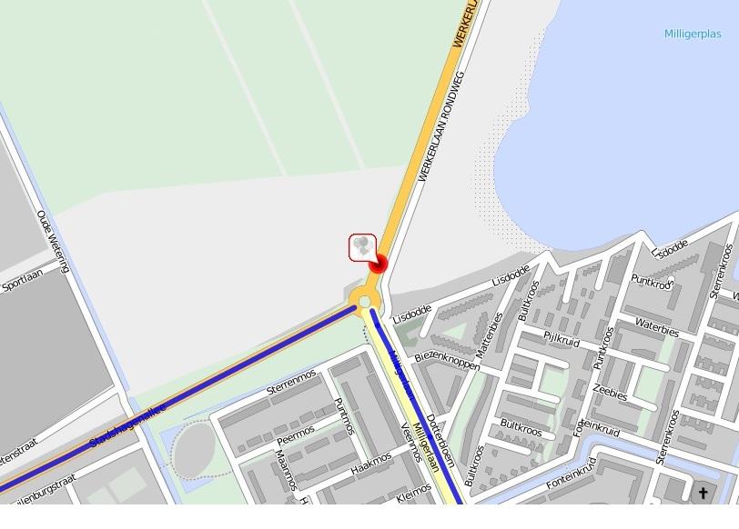 Ter hoogte van de rotonde Stadshagenallee - Milligerlaan is de weg richting Hasselt in de nacht van 30 op 31 augustus en in de nacht van 2 en 3 september tussen 0.00 en 5.00 uur afgesloten.