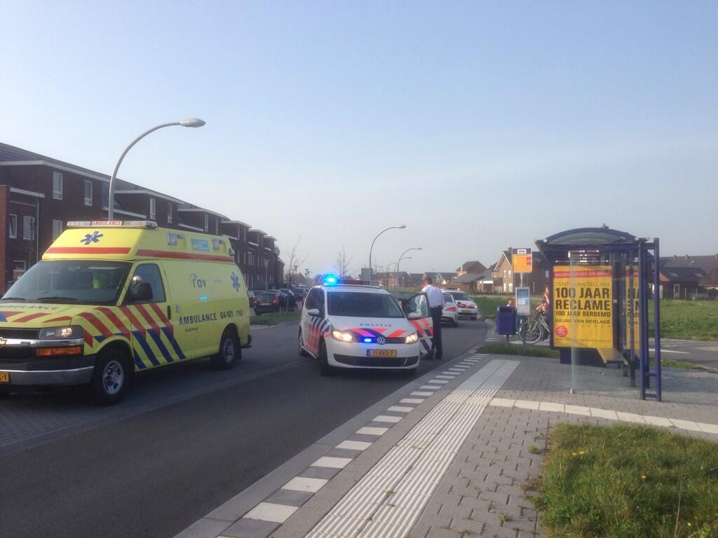 Ongeluk tussen meisje op de fiets en automobilist