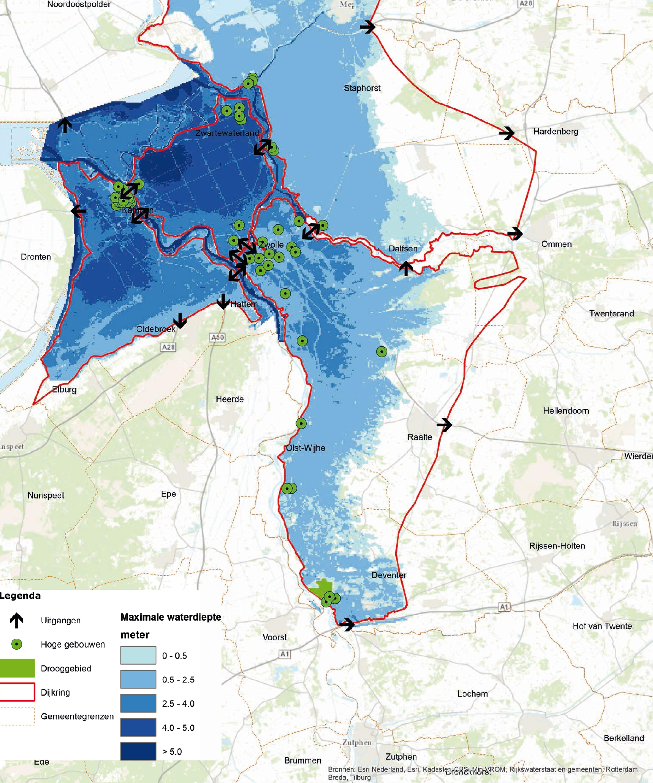 Overstromingskaart