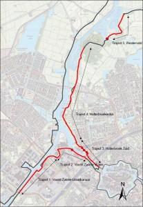 Stadsdijken Zwolle_overzichtskaart en trajecten