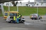 Ongeval op kruising Hasselterweg (foto's)