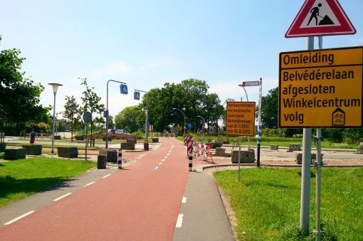 Werkzaamheden fietsoversteek Belvédèrelaan gestart