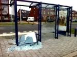 Opnieuw bushalte in Stadshagen vernield