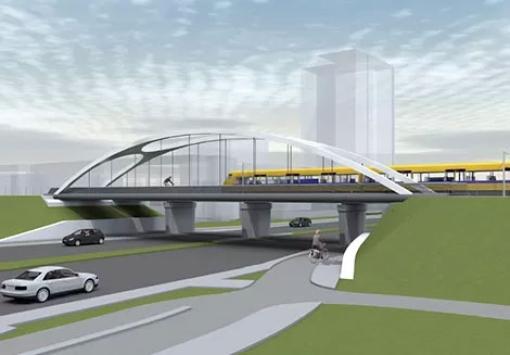 Nieuwe fietsbrug van Stadshagen naar centrum