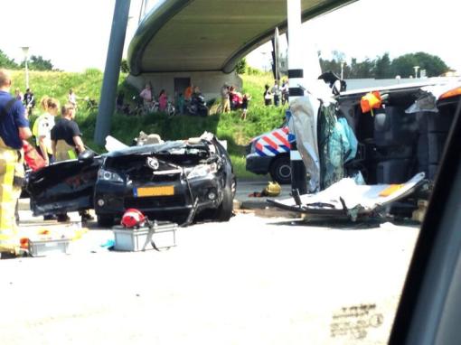 Ernstig ongeval kruising Hasselterweg-Frankhuizerallee