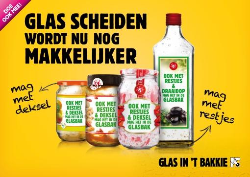 Campagneteam 'Glas in 't bakkie' naar winkelcentrum Stadshagen