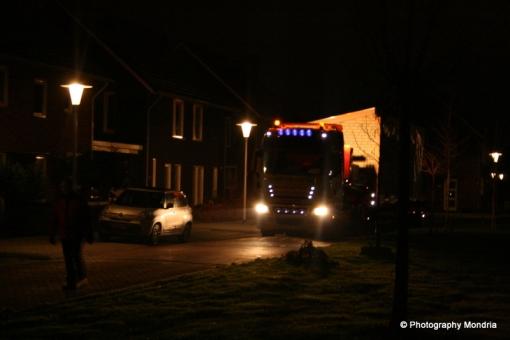 Woonwagens arriveren in Werkerhoven