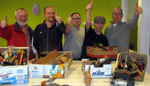 Overtollig handgereedschap naar Repair Café Stadshagen