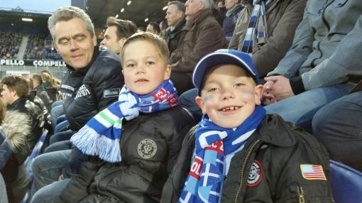 Prijswinnaars beleven mooie wedstrijd PEC Zwolle