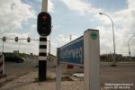 Verkeerslichten geactiveerd op ongelukskruising