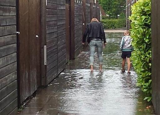 Wateroverlast door aanhoudende regen