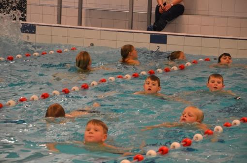 Kinderen zwemmen geld bijeen voor Park de Stadshoeve