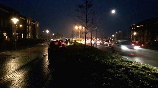 Gladde wegen in Stadshagen door ijzel