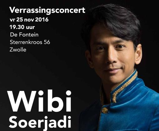 Bijzonder verrassingsconcert Wibi Soerjadi in Stadshagen