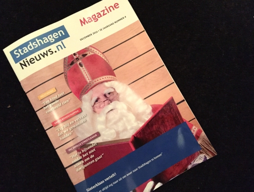 Interview met Sinterklaas in decembereditie magazine