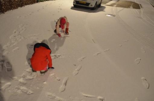 Sneeuwpret in Stadshagen (foto's)