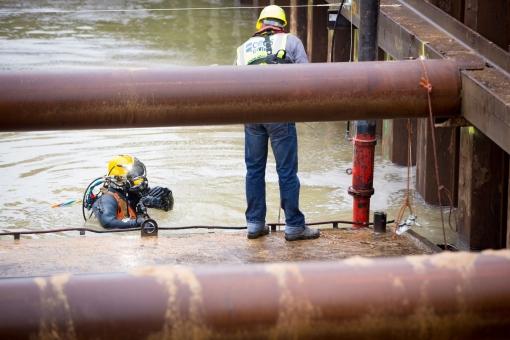 Vrijdag onderwaterbeton gestort in nieuwe spoortunnel