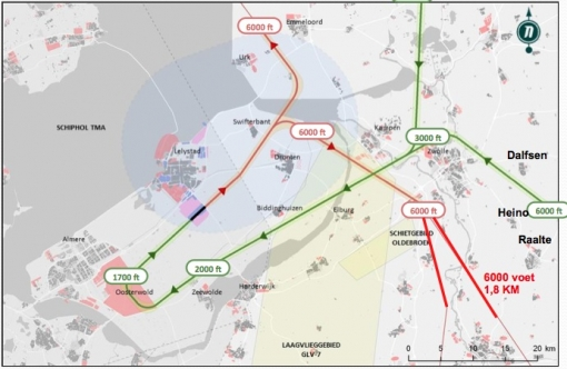 Zorgen over geluidsoverlast vliegroutes boven Stadshagen