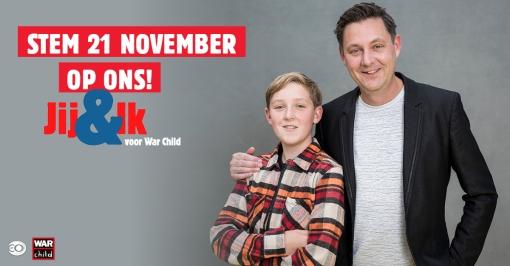 Stadshagense vader en zoon deelnemer 'Jij&Ik voor WarChild' op NPO1