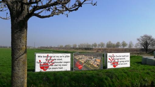 's-Heerenbroek protesteert tegen woningbouw Stadshagen