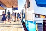 Eerste trein stopt in Stadshagen