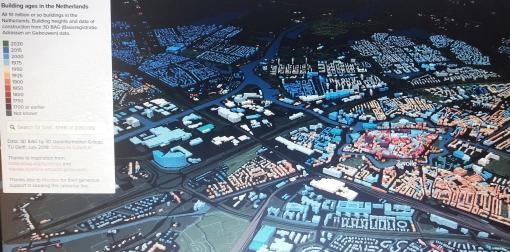 Bouwjaar huizen Stadshagen op online 3D-kaart