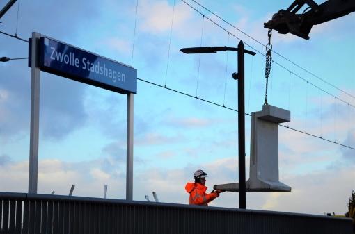 Perron station Stadshagen verlengd