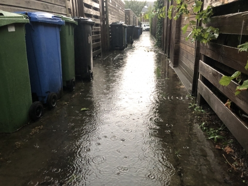 Wateroverlast in Stadshagen na noodweer