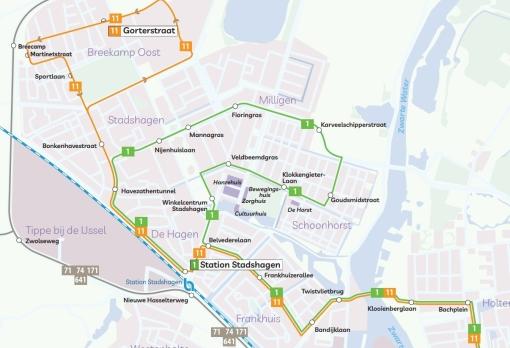 Nieuwe buslijn voor Stadshagen