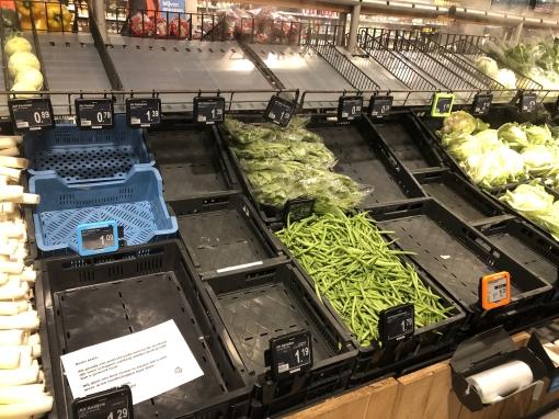 Supermarkten kampen met leveringsproblemen na boerenblokkade