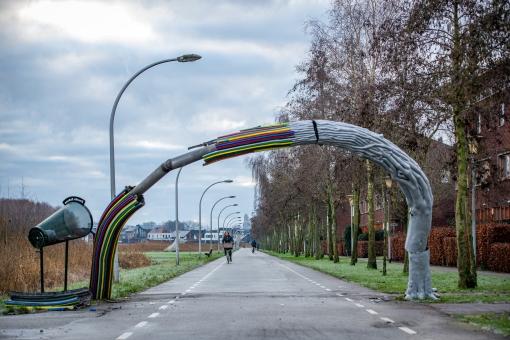 Kunstwerk Twistvlietpad zwaar beschadigd