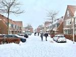 Flinke sneeuwlaag in Stadshagen (foto's)