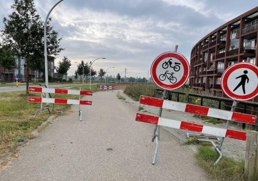 Fietsroute naar 's-Heerenbroek langer dicht