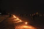 Fakkeltocht ijsvereniging WVF (foto's)