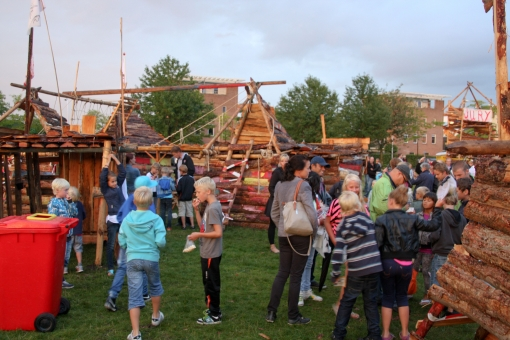 Huttendorp Stadshagen in de laatste vakantieweek